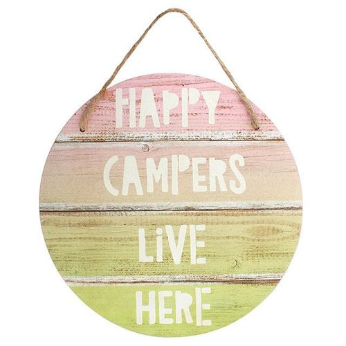 Happy Campers live here Dekoschild